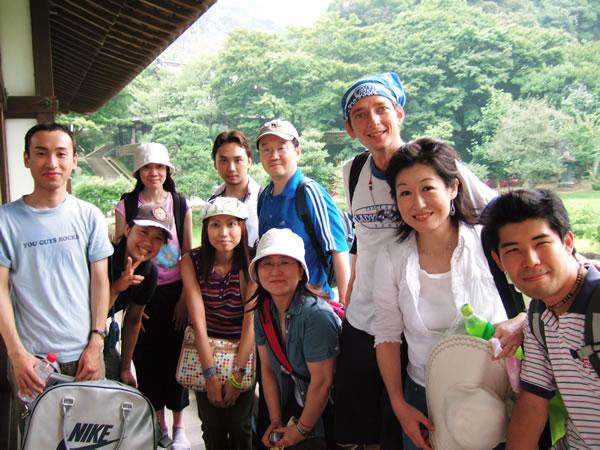 アンディ、生徒さん達と鎌倉ハイキング2