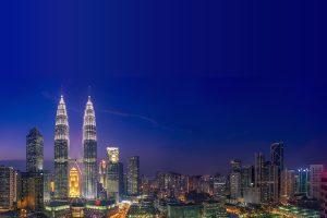 マレーシアツインタワーの夜