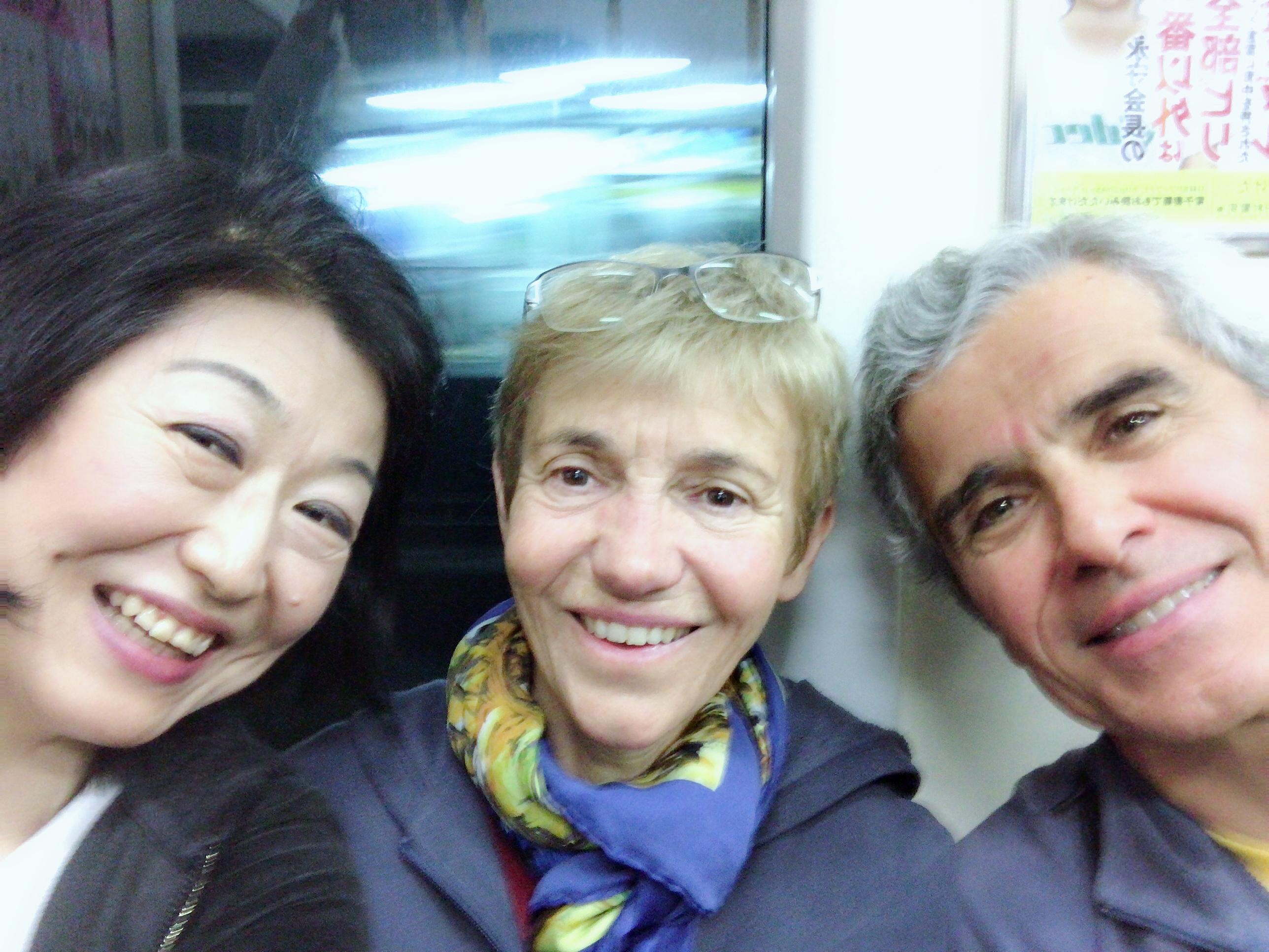 電車でフランス人カップルと知り合う!